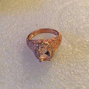 Rose gold 18k filled morganite ring